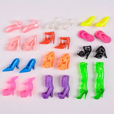 Random Shoes Heels Sandals For Barbie Doll Fashion Party Dress Toy 3 Pairs AU