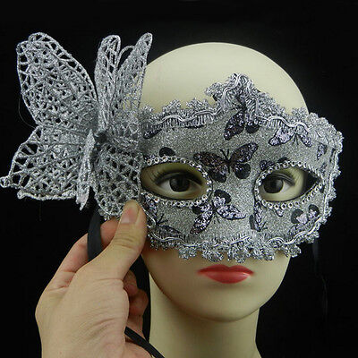 Bling Masquerade Halloween Cosplay Party Lace Venetian Princess Mask Butterfly
