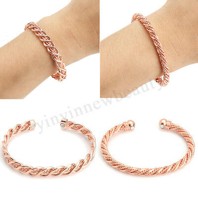 MAGNETIC COPPER Therapy Bracelet Arthritis Pain Relief Bangle Mens Womens