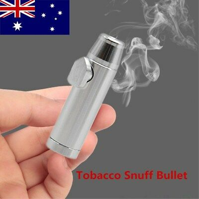 Snuff Bullet Metal Rocket Powder Dispenser Snorter Snuffer Vial Tube Bottle AU