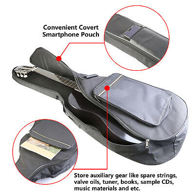 "41"" Inch Padded Protective Classical Acoustic Guitar Back Bag Carry Gig Case US"