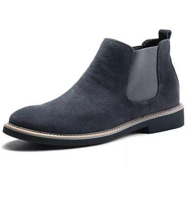 Mens Slip On Suede Chelsea Ankle Boots Cotton Casual Warm Desert Casual Shoes