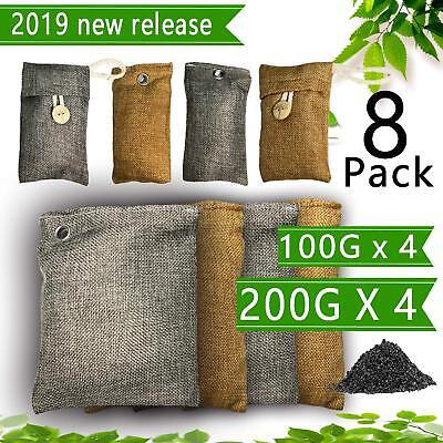 8x Activated Bamboo Charcoal Air Purifying Bag AirFilter Freshener Ordor Remover