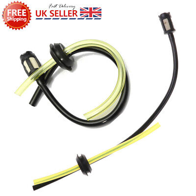 Petrol Strimmer Fuel Hose Pipe With Tank Filter assembly & Grommet.UK NEW