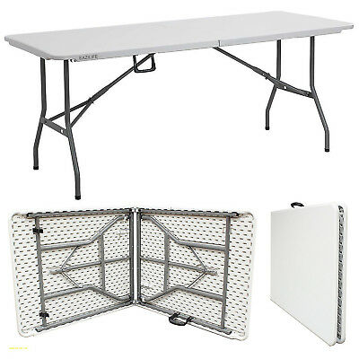 Heavy Duty 6FT White Folding Table Dining Party Decorating Banquet Camping BBQ