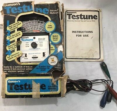 Vintage Gunsons Testune Silicon Chip Multimeter Ideal Classic Car Garage Prop