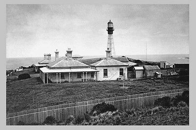 KING Island CURRIE Lighthouse Keeper's Quarters 1887 modern Digital Postcard