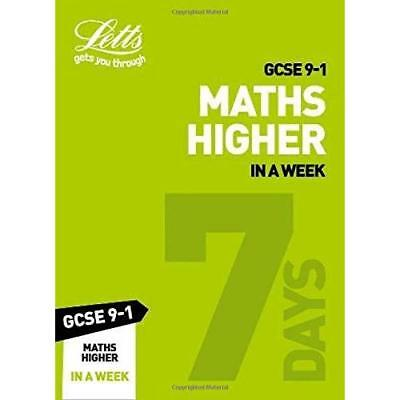 GCSE 9-1 Maths Higher In a Week (Letts GCSE 9-1 Revisio - Paperback / softback N