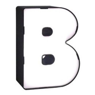 NEW LED Neon Letter - B Novelty Table Lamp Brass - Room Essentials