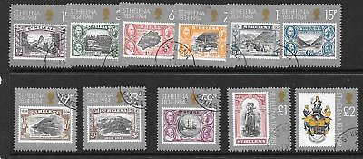 ST.HELENA SG425/35 1984 150th ANNIV OF ST HELENA AS BRITISH COLONY FINE USED