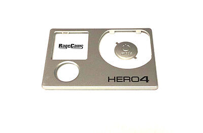 Front Faceplate Camera Face Plate Cover for GoPro Hero4 Black Power Button NEW
