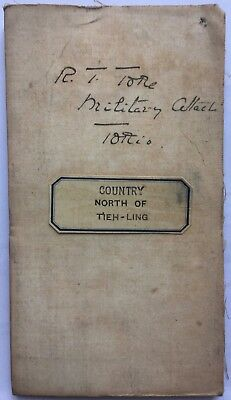 CHINA RUSSIA JAPAN WAR MILITARY MAP COUNTRY NORTH OF TIEH-LING R. Toke Welch Reg