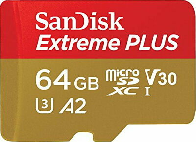 SanDisk Extreme PLUS 64 GB microSDXC Memory Card + SD Adapter with A2 App Perfor