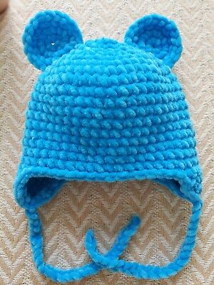 CROCHETED TEDDY BEAR Hats choose color and Many Sizes Photo Prop ... d6345ba7b4dd