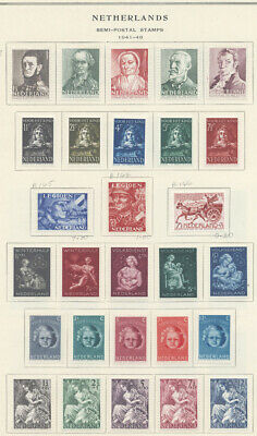 Netherlands 1941-1959 Complete Semipostal Sets Collection Mint $638.55