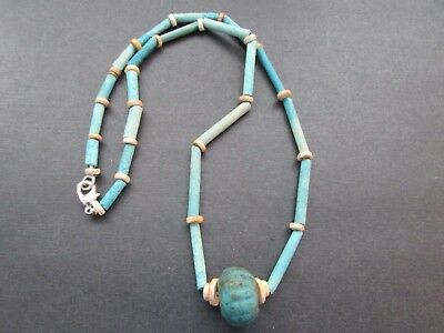NILE  Ancient Egyptian Melon Amulet Mummy Bead Neclace ca 600 BC