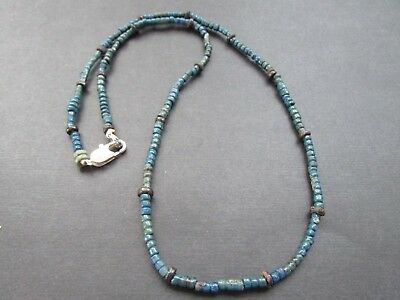 NILE  Ancient Egyptian Amulet Mummy Bead Neclace ca 600 BC