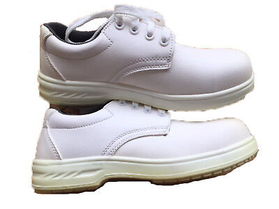 Portwest White Laced Anti Slip Safety Shoe Catering Hospital Size 5 - EN/ISO