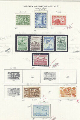 Belgium 1950-1954 Better Singles Sets Souvenir Sheets Collection Mint $1000.65