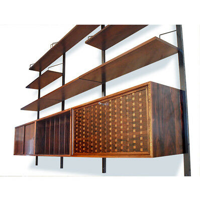 Stunning Danish Royal Shelving System by Cado in Rosewood,1960s, Mid Century