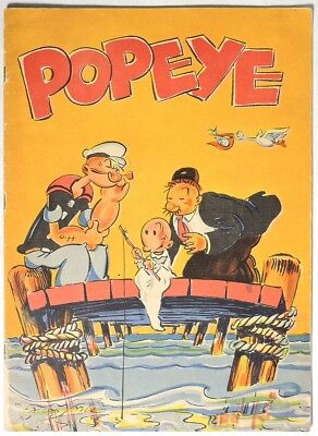 S160. VINTAGE: King Features Syndicate POPEYE Linen Illustrated Book (1936)