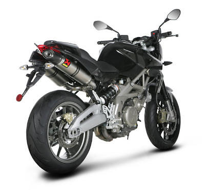 Akrapovic Street Legal Dual Slip-On Mufflers Ti Aprilia SL 750 Shiver 2010-2014