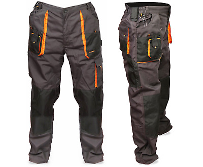 Mens Multi Pocket Cargo Heavy Duty Knee pad, Pro Work Trousers, Triple Stitched