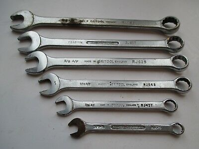 6 x Britool AF Combination Spanners RJ Series Wrenches RJ375 - 750  3/8 - 3/4