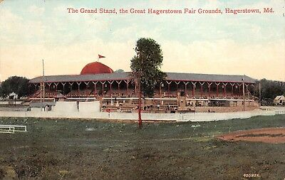 Hagerstown Maryland 1907 Postcard Grand Stand Great Hagerstown Fair Grounds