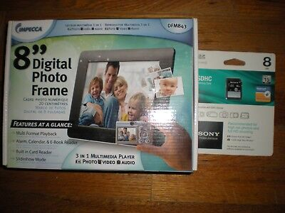 New Impecca Dfm 843 Digital Photo Frame With Sdch Memory Card
