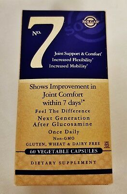 NEW Solgar No. 7 Joint Support & Comfort Flexibility 60 Capsules Exp. 11/2020