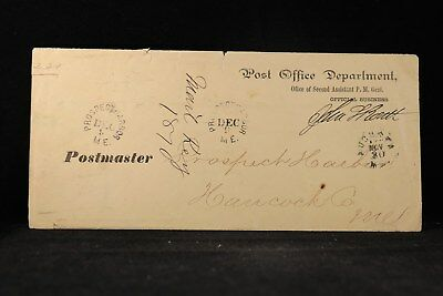 John L. Rouitt 1870 Free Frank Post Office Cover, 1st Colorado Governor