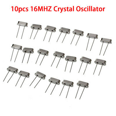 10× 16mHz 16.000M Crystal Oscillators HC49S Quartz Low Profile rc pi arduino Pro
