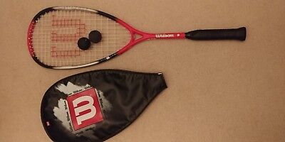 Squash Racket Wilson Titanium Ultra Pro with Wilson Cover