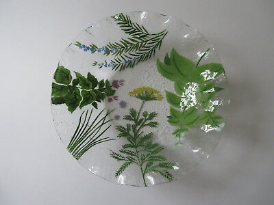 Studio Art Fused Glass WILD FLOWERS Large Serving Bowl 11 in