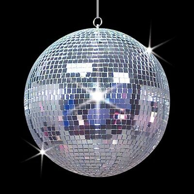 """Large 12"""" Mirror Glass Disco Ball DJ Dance Home Party Bands Club Stage Lightning"""
