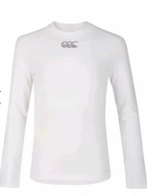 Canterbury Thermoreg White  Long Sleeve Top Kids 10 years old RRP £28  #b12