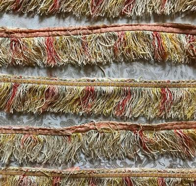 4.8m EARLY TO MID BEAUTIFUL19th CENTURY FRENCH WIDE SILK TRIM PASSEMENTERIE 119