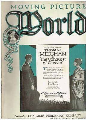 Rare Vintage Moving Picture World June 25, 1921 Thomas Meighan cover
