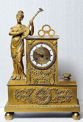 Antique French Empire Figural Gilt Bronze Clock 1805's