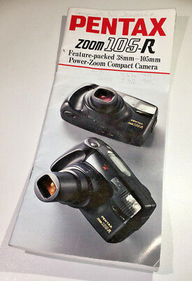 DL-size sales booklet for Pentax Zoom 105-R 35mm compact from early 1990s