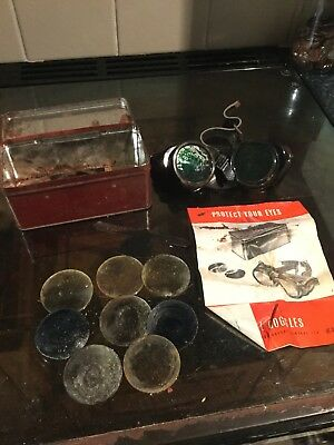Vintage BOCAL Weldng Goggles in original box incl spares lenses - steampunk