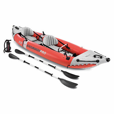 Intex 68309EP Excursion Pro 2 Person Inflatable Vinyl Kayak with Oars and Pump