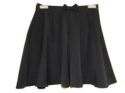 NEW GIRLS NAVY EX STORE BOW FRONT FLARED SCHOOL SKIRT AGE 3-15 years (AA21)