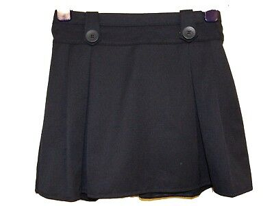 New Girls Ex Store Navy A Line Pleat Button Tab Elastic School Skirt 3-13 Aa18