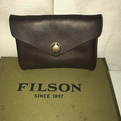 New In Box Filson Made In Usa Limited Edition All Leather Workshop Snap Wallet