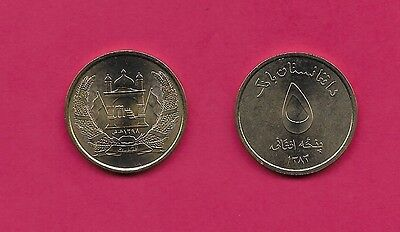 Afghanistan Rep 5 Afghanis 2004 Unc Mosque With Flags In Wreath,value,legend Abo
