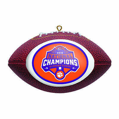 Clemson Tigers 2018-2019 CFP National Champions Football Christmas Tree Ornament