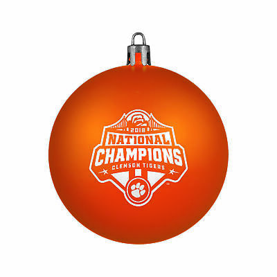 Clemson Tigers 2018-2019 CFP National Champions Shatterproof Christmas Ornament