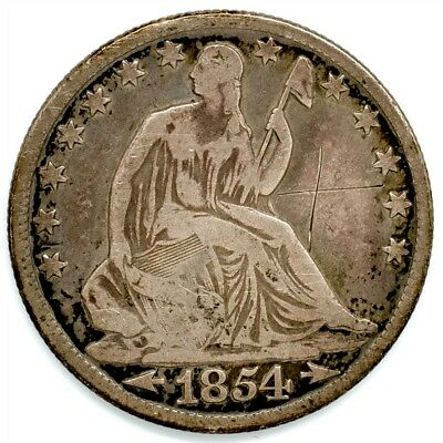 1854-O Seated Liberty Half Dollar - Fine Detail - 50c Silver, Arrows at Date